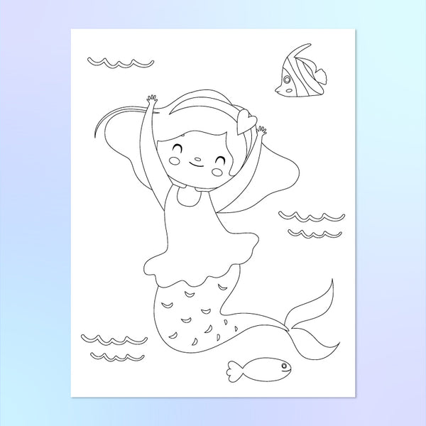 printable mermaid coloring page