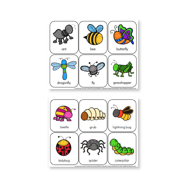 image relating to Printable Bugs identified as Printable Preschool Bug Things to do For Finding out Entertaining