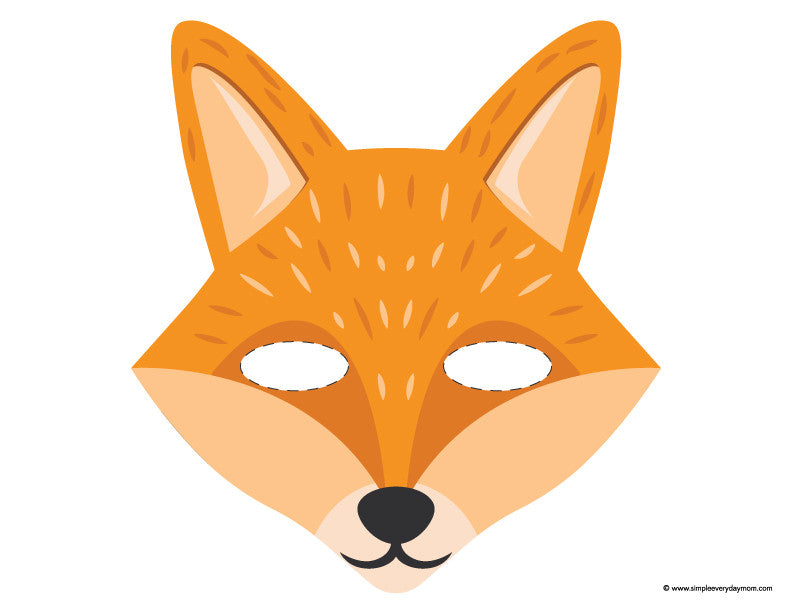 graphic relating to Fox Mask Printable identify 9 Tenting Printables For Young children Thatll Provide Your self Some Serene Period