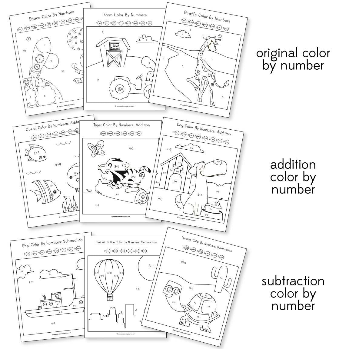 9 fun color by number worksheets that teach math the easy way
