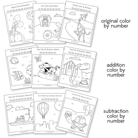 Color By Number Worksheets