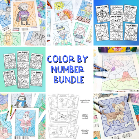 Color By Number Worksheet Bundle