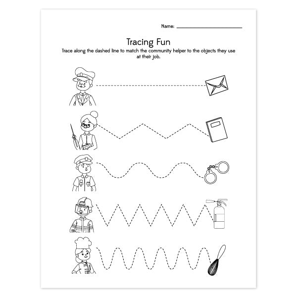 Community Helpers Worksheets That Teach Entertain Kids