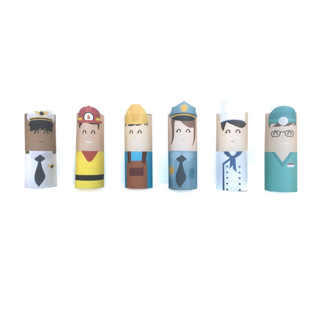 Community Helpers Toilet Paper Dolls