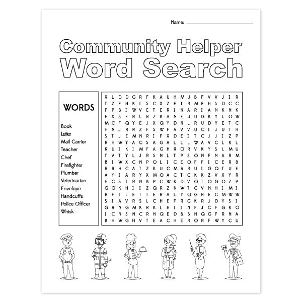 Community Helpers Worksheets Simple Everyday Mom