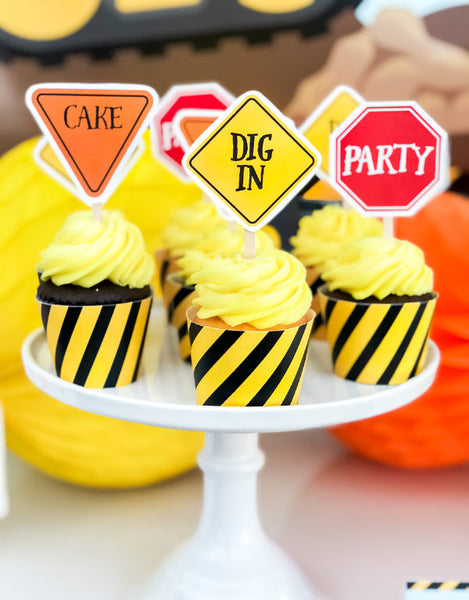 construction party printables