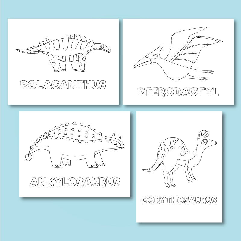 Dinosaur Coloring Pages For Kids Simple Everyday Mom