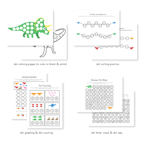 dinosaur do a dot printables