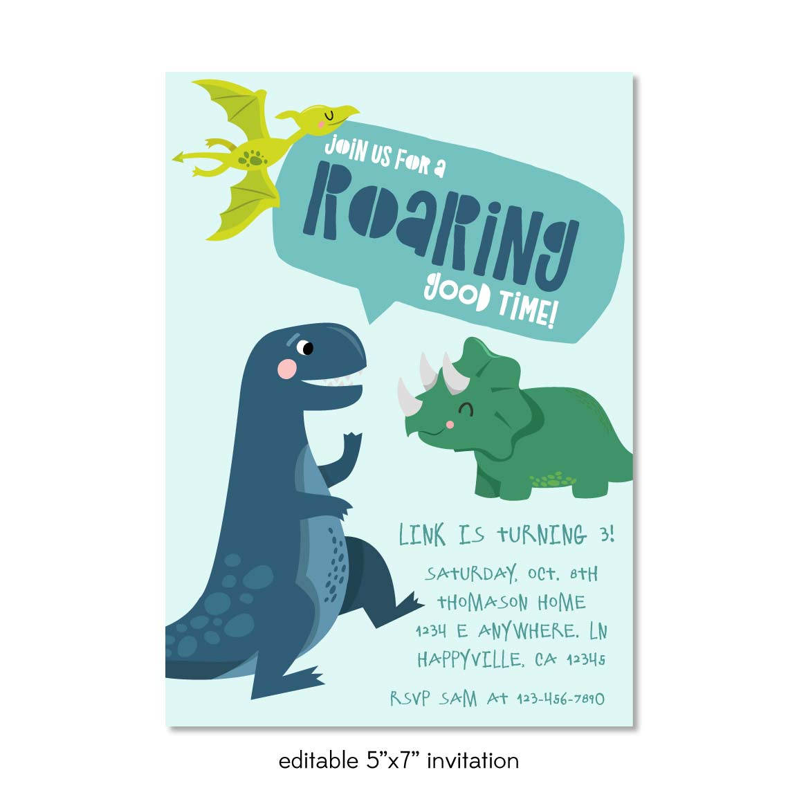 A Terrific T-Rex Dinosaur Birthday Party Printable Pack For Kids