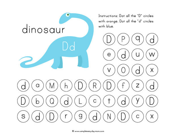 dinosaur do a dot art printables