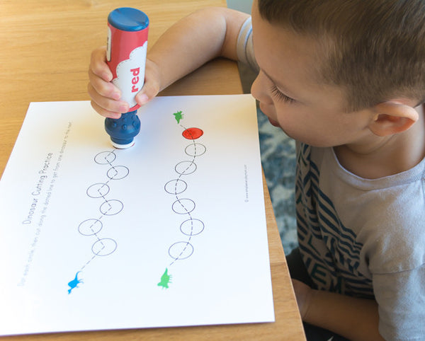 dinosaur do a dot printables numbers