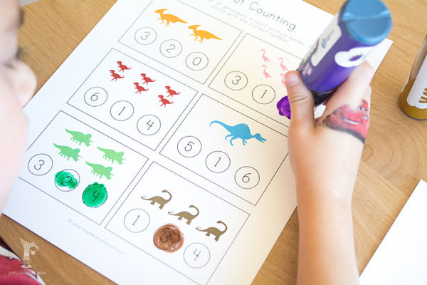 dinosaur do a dot printables pdf
