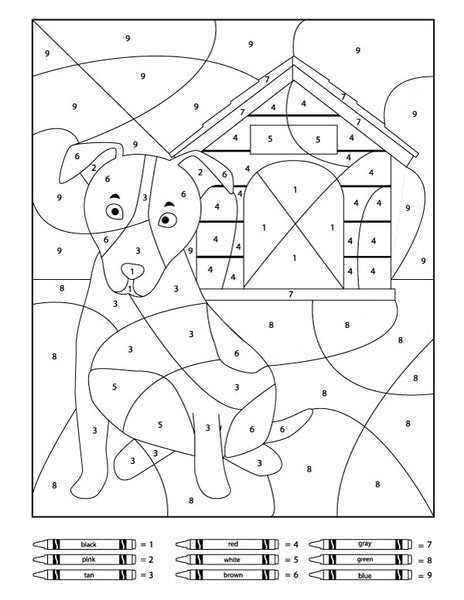 Dog Color By Number Printables
