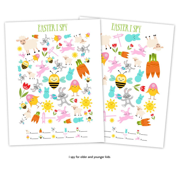 easter i spy printables