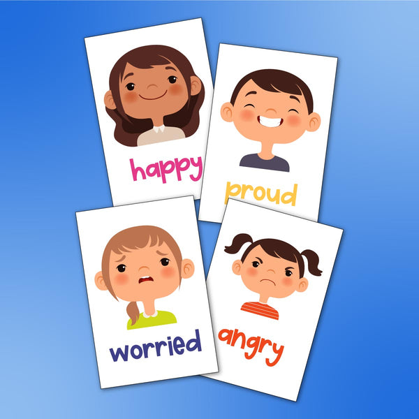 emotion flashcards for kids