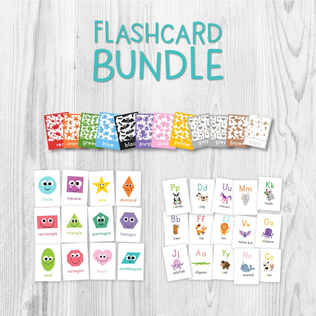 shape, color and alphabet flashcards