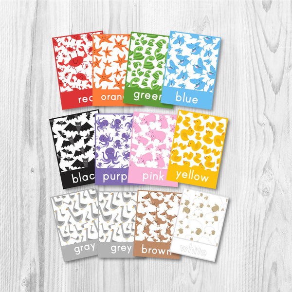 printable color flash cards