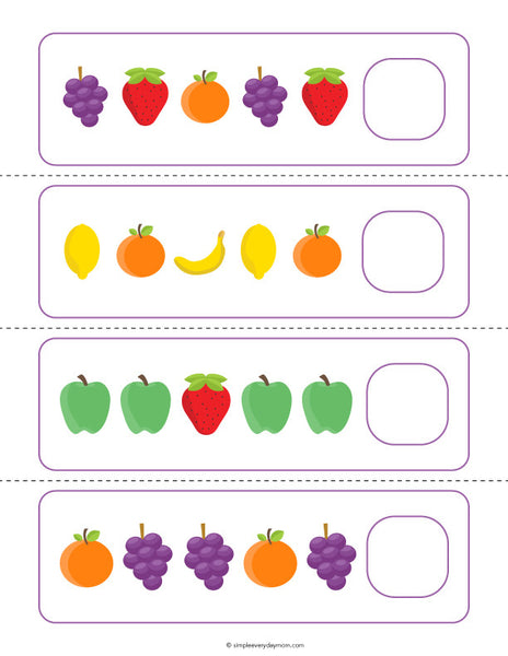 Fruit Activities For Preschool