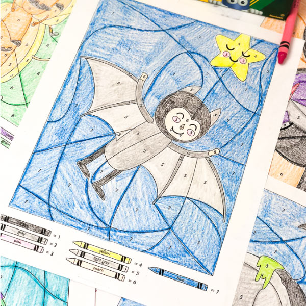 Halloween Color By Number Worksheets