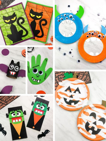 Hallowen Art & Crafts (With Templates)