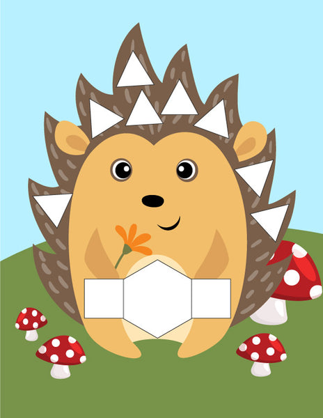 hedgehog pattern block mat