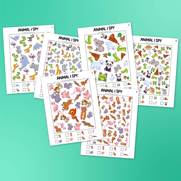 Animal I Spy Printables