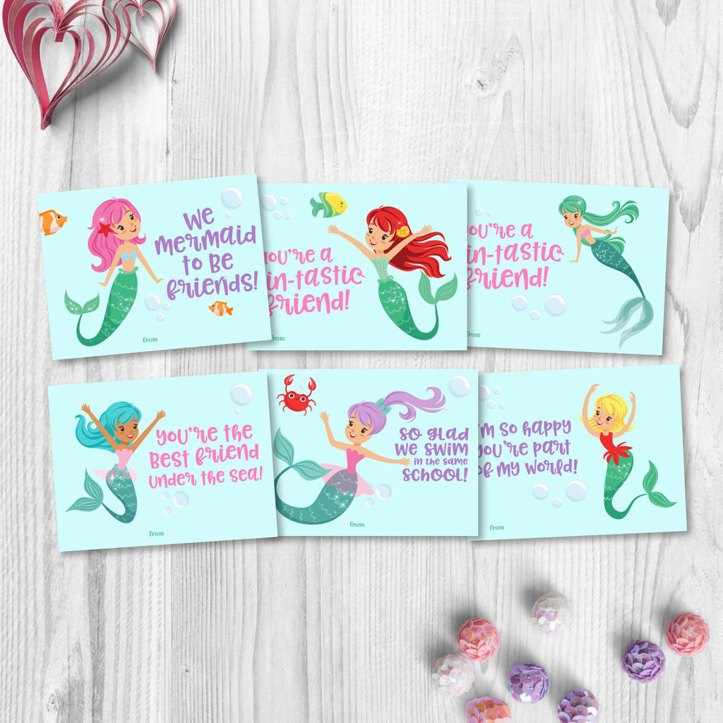Mermaid Valentines