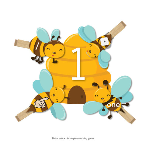 Bee & Beehive Number Activity For Preschool & Kindergarten