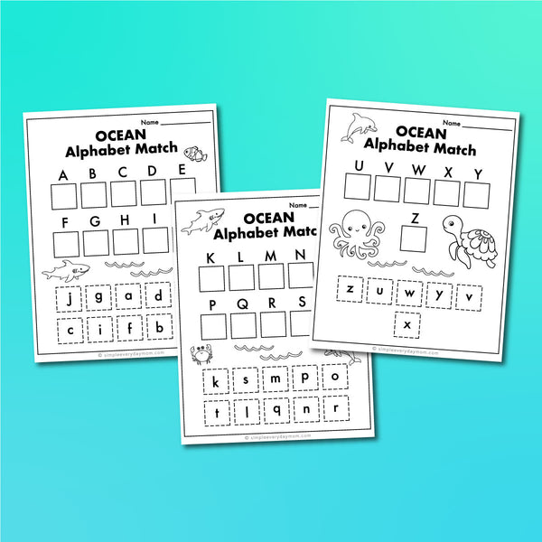 Ocean Animal Worksheets
