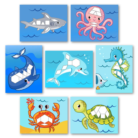 Ocean Animal Pattern Block Mats