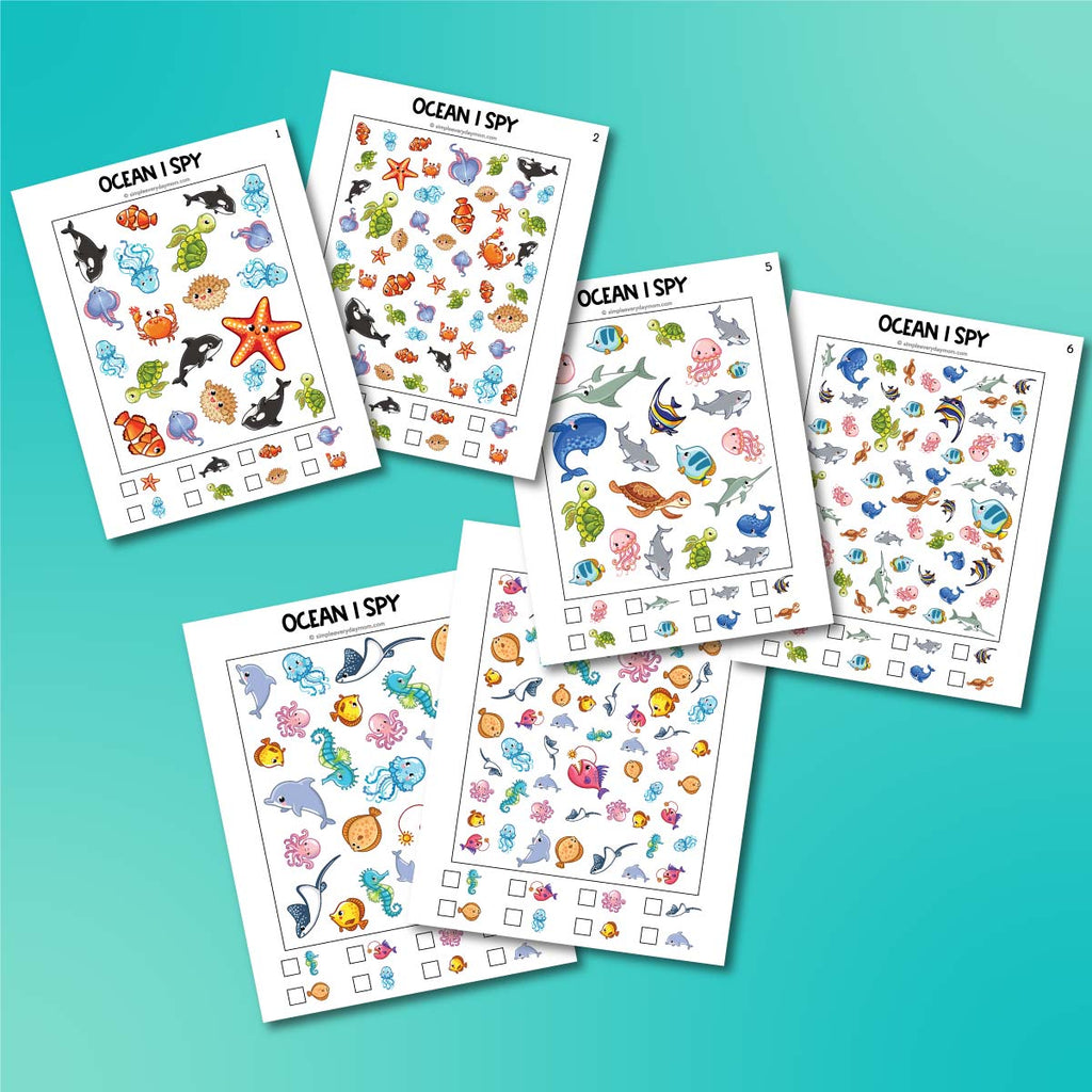 Ocean Animal I Spy Printables