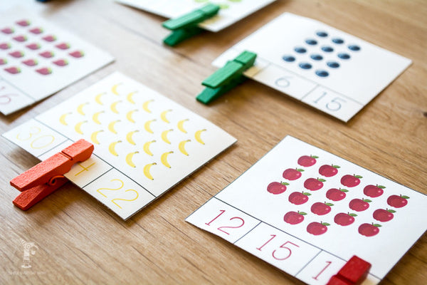 fruit counting cards
