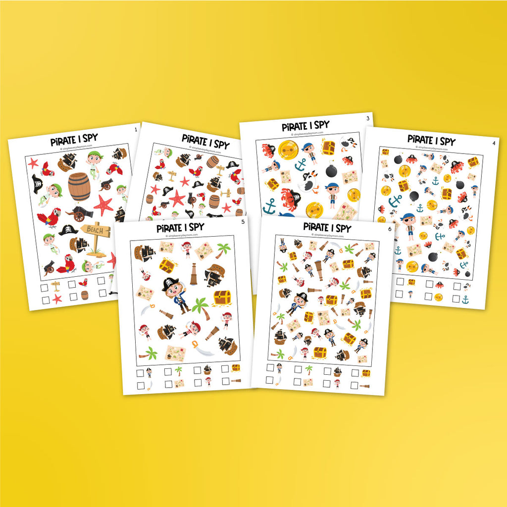 Pirate I Spy Printables