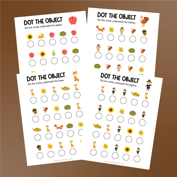 Thanksgiving do a dot printables