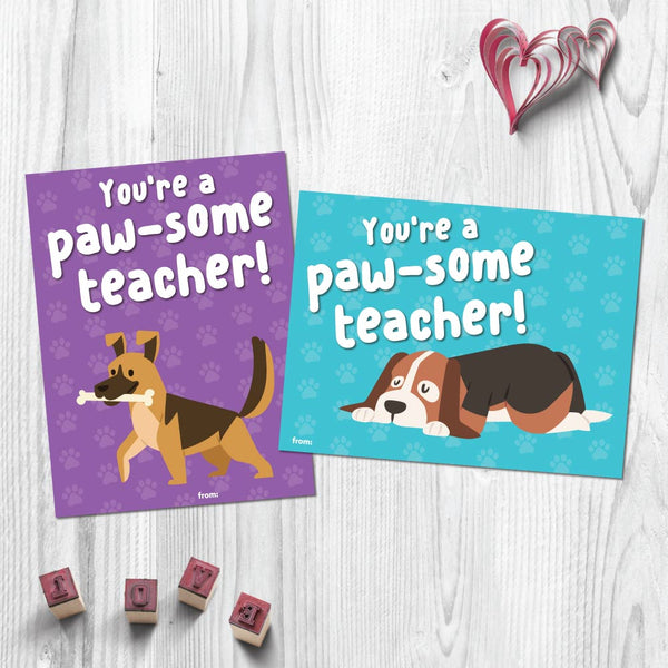 Puppy Valentine Card Printables