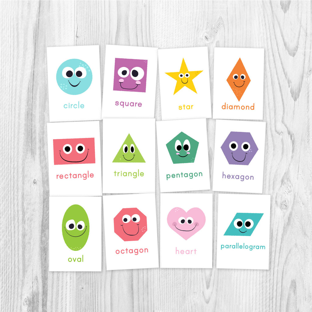image regarding Printable Shape Flash Cards named Flashcards For Young children Package