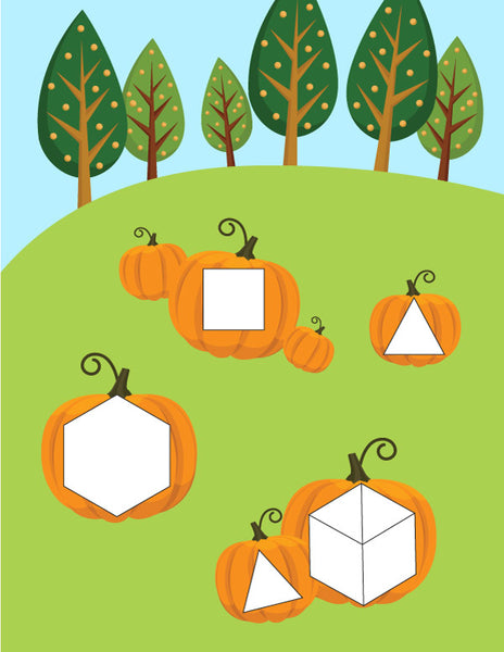pumpkin pattern block mat