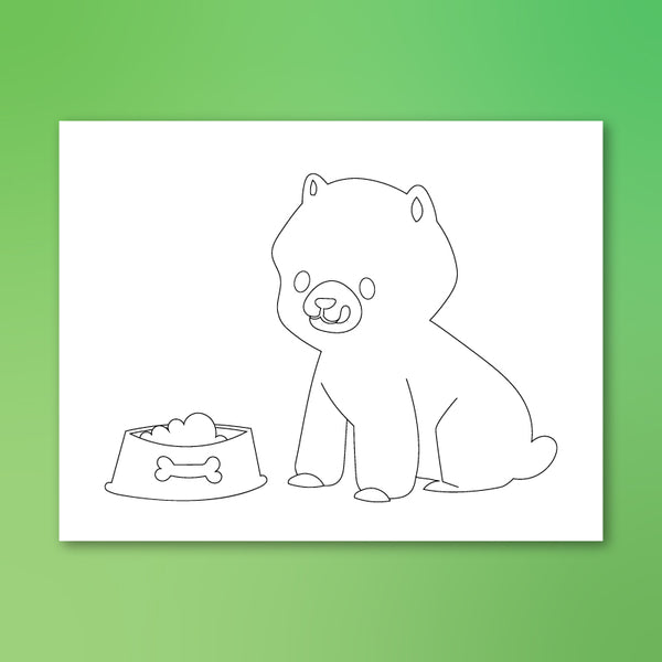 cute puppy coloring page
