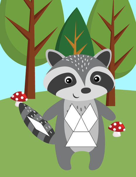 raccoon patter block mat