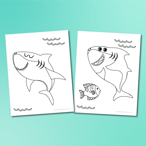 Shark Coloring Pages