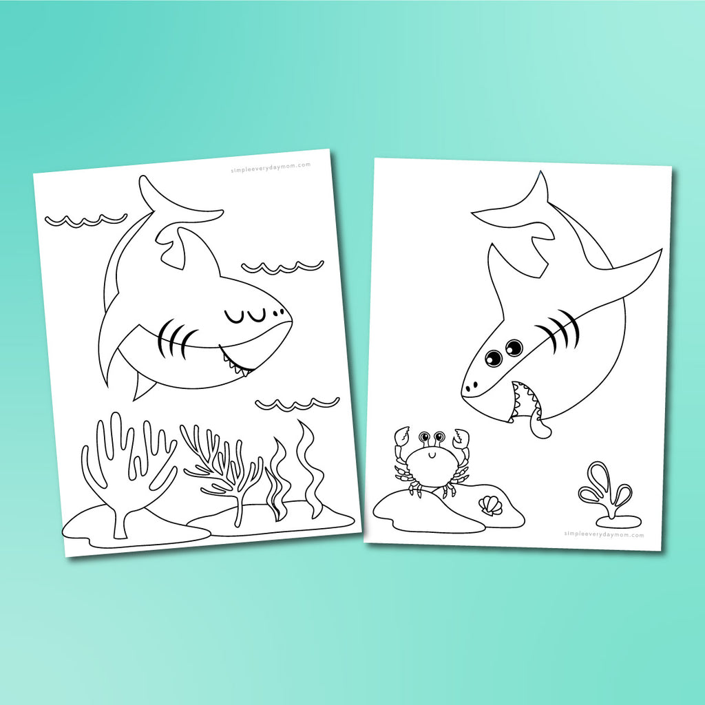 Shark Coloring Pages - Simple Everyday Mom