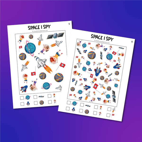 space i spy printables