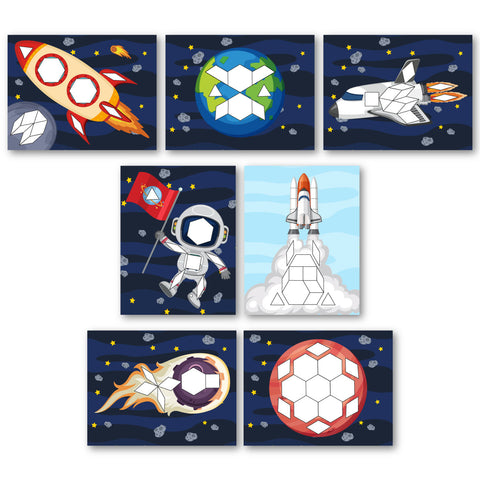 Space Pattern Block Mats