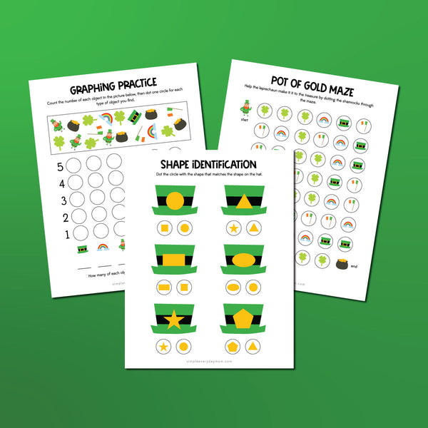 St. Patrick's Day Do A Dot Printables