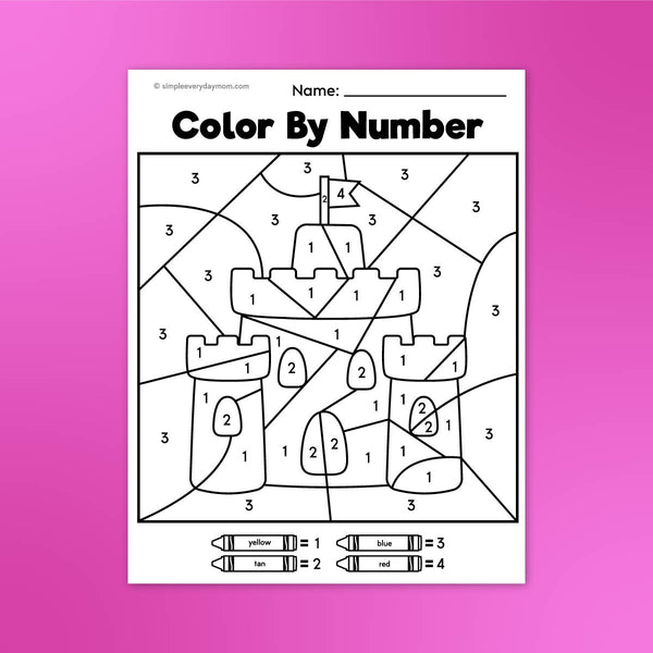 Summer Color By Number Printables