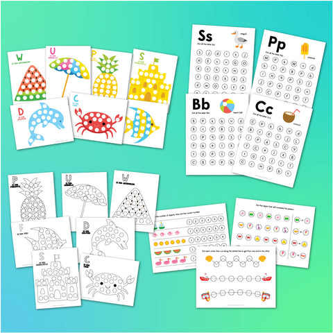 Summer Do A Dot Printables