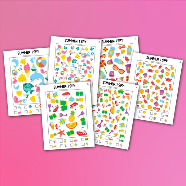 Summer I Spy Printables