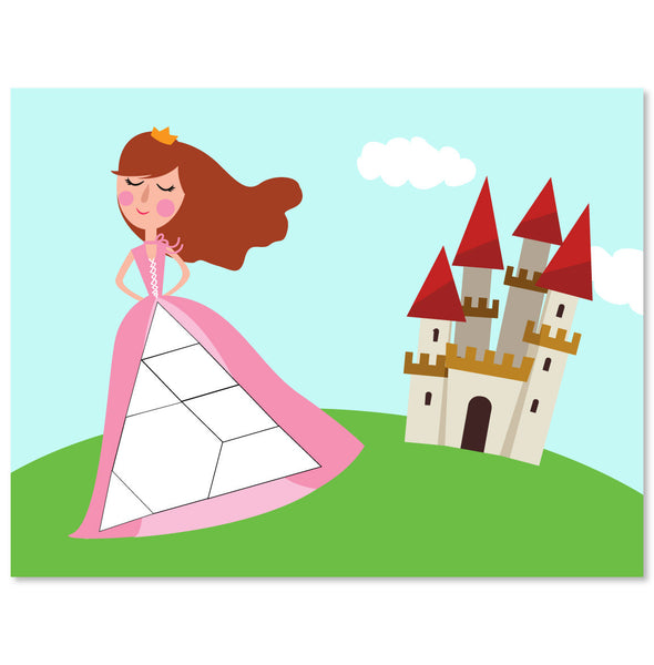 princess and castle puzzle block mat