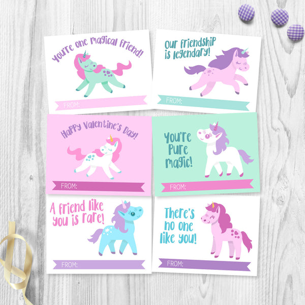 Unicorn Valentine Cards