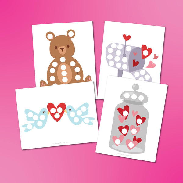 Valentine Do A Dot Printables For Kids